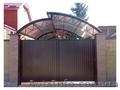 Откатные и распашные автоматические ворота калитки забор из профнастила.